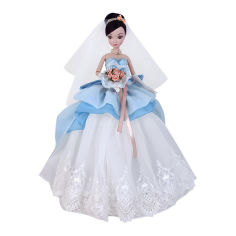 Акция на Кукла Kurhn Свадьба платье с голубыми элементами (6938142091034) от Будинок іграшок