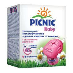 Акция на Электрофумигатор + жидкость от комаров Picnic Baby 45 ночей, 30 мл 220100045 ТМ: Picnic от Antoshka