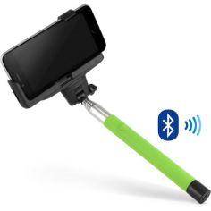 Акция на Селфи монопод со встроенным Bluetooth M+ Light Green 33 (MP050276) от Allo UA