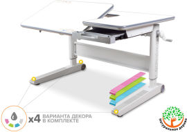 Акция на Детский стол Mealux RichWood Multicolor Tg (арт. BD-840 TG/MC) от Stylus
