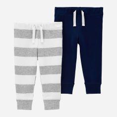 Акция на Спортивные штаны Carters 1H452410 61-69 см 2 шт Синий/Серый (192136677260) от Rozetka