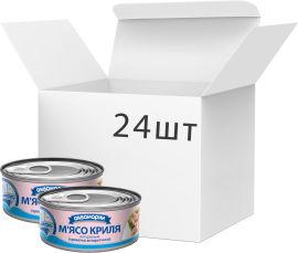 Акция на Упаковка мяса криля Аквамарин натуральное 100 г 24 шт (4820183772664) от Rozetka