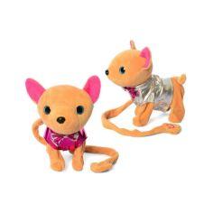 Акция на Интерактивная мягкая игрушка Metr + Собачка Кикки на поводке 33 * 30 * 11 см., Бежево-розовый M 4306 от Allo UA