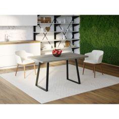 Акция на Обеденный стол Skandi Wood SW055 Массачусетс 180 х 80 х 75 см Массив Ясень Темно-Cерый (SW055188075DaarrAsh) от Allo UA