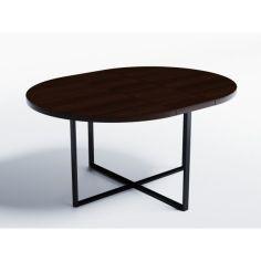 Акция на Обеденный стол раскладной Skandi Wood SW053_R Калифорния ⌀ 100 см (+35) х 100 х 76 см Массив Ясень Венге (SW053_R101076wearrAsh) от Allo UA