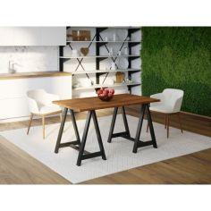 Акция на Обеденный стол Skandi Wood SW060 Джерси 200 х 80 х 75 см Массив Ясень Коричневый (SW060208075BrarrAsh) от Allo UA