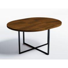 Акция на Обеденный стол раскладной Skandi Wood SW053_R Калифорния ⌀ 90 см (+35) х 90 х 76 см Массив Ясень Коричневый (SW053_R909076BrarrAsh) от Allo UA
