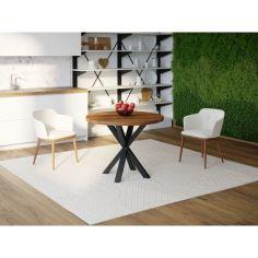 Акция на Обеденный стол Skandi Wood SW043 Висконсин 75 х 75 х 75 см Массив Ясень Коричневый (SW043757575BrarrAsh) от Allo UA