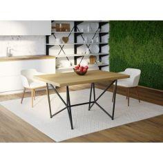Акция на Обеденный стол Skandi Wood SW084 Гаррисберг 150 х 80 х 75 см Массив Ясень Натуральный (SW084158075NaarrAsh) от Allo UA