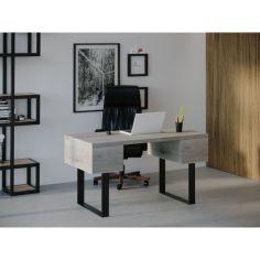 Акция на Компьютерный стол HYGGE HG023 Юллінге 200 х 80 х 75 см ДСП Дуб Серый (HG02320807GrePar) от Allo UA