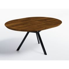 Акция на Обеденный стол раскладной HYGGE HG149_R Нюкебінг ⌀ 90 см (+35) х 90 х 76 см ДСП Дуб Ореховый от Allo UA