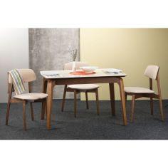 Акция на Обеденный стол Skandi Wood SWOL003 Спейс / Спейс ОВАЛ 180 (+40) x 80 x 75 см Стекло Белый Однотонный от Allo UA