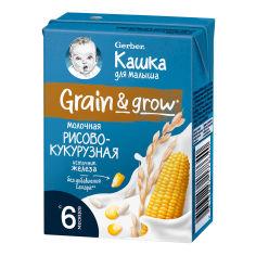Акция на Молочная жидкая каша Gerber Рисово-кукурузная 200 мл 12462210 ТМ: Gerber от Antoshka