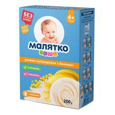 Акция на Молочная каша Малятко Рисово-кукурузная с бананом 200 г  ТМ: Малятко от Antoshka