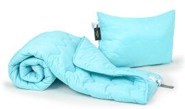Акция на Набор хлопковый всесезонный 1706 Eco Light Blue одеяло и подушка MirSon 172х205 см от Podushka
