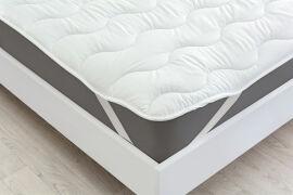 Акция на Наматрасник с шелковым наполнителем 1724 Eco Light White Silk Mirson на резинках по углам 100х200 см от Podushka
