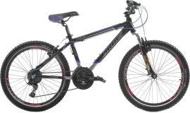 """Акция на Велосипед Ardis Silver Bike 500 24"""" 15"""" 2021 Черно-синий (0189) от Rozetka"""