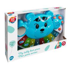 Акция на Игрушка-пианино One Two Fun Мой плюшевый медвежонок, голубой от Auchan