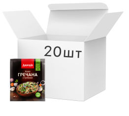 Акция на Упаковка каши гречневой Добродія с грибами 40 г х 20 шт (4820182202261_4820182202278) от Rozetka