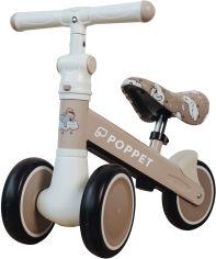 Акция на Детский трёхколёсный беговел POPPET Мишка Лаки Дрим Матово-бежевый (PP-1607N) от Rozetka