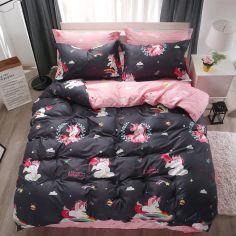Акция на Комплект постельного белья MirSon Бязь Premium 17-0490 Unicorn Евро (2200003464467) от Rozetka