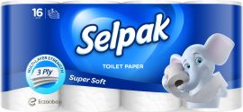 Акция на Туалетная бумага Selpak трехслойная Белая 16 рулонов (8690530134546) от Rozetka