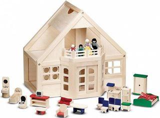 Акция на Melissa&Doug Меблированный деревянный домик (MD795) от Stylus