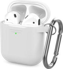 Акция на Классический Силиконовый чехол AhaStyle с карабином для Apple AirPods Transparent (AHA-01060-CLR) от Rozetka
