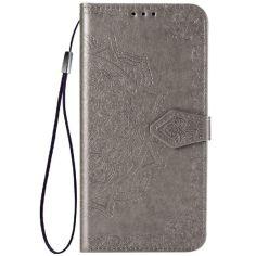 Акция на Кожаный чехол (книжка) Art Case с визитницей для Samsung Galaxy A02s Серый от Allo UA