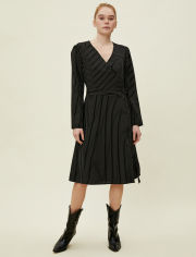 Акция на Платье Koton 0KAK88764PW-02N 42 Black Stripe (8682259237660) от Rozetka
