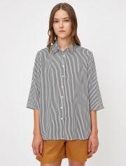 Акция на Рубашка Koton 0KAK68990PW-02N 40 Black Stripe (8681972487536) от Rozetka