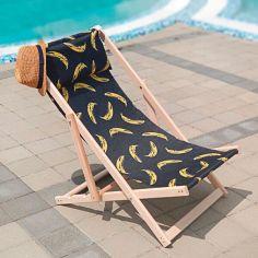Акция на Шезлонг раскладной деревянный из массива бука Presentville Бананы от Allo UA