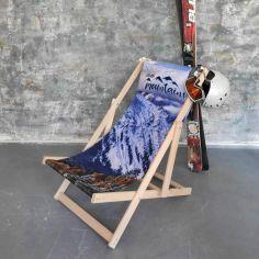 Акция на Шезлонг раскладной деревянный из массива бука Presentville Hello, mountains от Allo UA