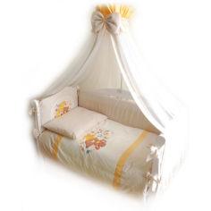 Акция на Комплект постельного белья детский Twins Evolution (7 элементов) бежево-желтый A-012 от Allo UA