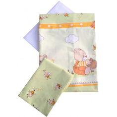 Акция на Комплект постельного белья детский Twins Comfort (3 элемента) Медуны салатовый С-009 от Allo UA
