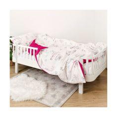 Акция на Комплект постельного белья детский 4 эл Twins Paris полуторный 1155-TPP-08 pink, розовый от Allo UA