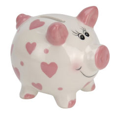 Акция на Копилка Spaarpot Свинка, керамическая, для девочки от Auchan