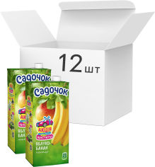 Акция на Упаковка нектара Садочок Яблочно-банановый нектар 0.95 л х 12 шт (4823063107310) от Rozetka