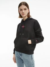 Акция на Худи Calvin Klein Jeans Monogram Logo Hoodie J20J215486-0K5 L Ck Black/Party Pink (8719853700303) от Rozetka