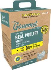 Акция на Полувлажный холистик корм для щенков с птицей Natyka Gourmet Puppy Real Poultry 3 кг (5430001795059) от Rozetka