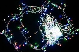Акция на Светодиодная гирлянда Scorpio 200L 3 м Разноцветная (756940) (4820007569401) от Rozetka