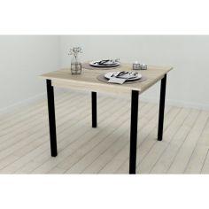 Акция на Стол кухонный Ferrum-decor Диего 75x90x90 Черный ДСП Сонома 16мм (DIE0018) от Allo UA