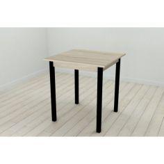 Акция на Стол кухонный Ferrum-decor Диего 75x80x80 Черный ДСП Сонома 16мм (DIE0004) от Allo UA