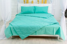 Акция на Детское летнее антиаллергенное одеяло EcoSilk 2347 Mint MirSon 110х140 см от Podushka