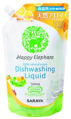 Акция на Наполнитель жидкости для мытья посуды Happy Elephant Грейпфрут 500 мл (4973512260254) от Rozetka