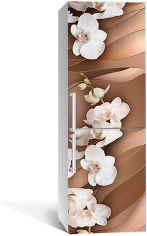 Акция на Виниловая 3D наклейка на холодильник Zatarga Свадебная орхидея 650х2000 мм (Z185256re) от Rozetka