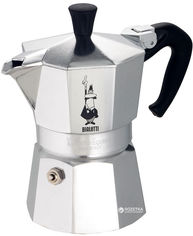 Акция на Гейзерная кофеварка Bialetti Moka Express 180 мл (990001164) от Rozetka