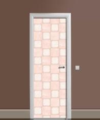 Акция на Виниловая 3D наклейка на дверь Zatarga Кремово-розовый штиль 650х2000 мм (Z182948dv) от Rozetka