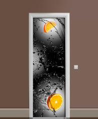 Акция на Виниловая 3D наклейка на дверь Zatarga Апельсины в бокале 650х2000 мм (Z181257dv) от Rozetka