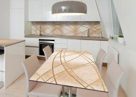 Акция на Виниловая 3D наклейка на стол Zatarga Сплетение линий 600х1200 мм (Z183004st) от Rozetka